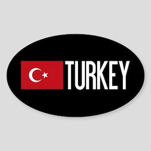 Turkey: Turkish Flag & Turkey Sticker (Oval)