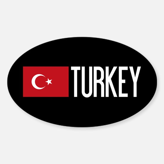 Turkey: Turkish Flag & Turkey Sticker (Oval)