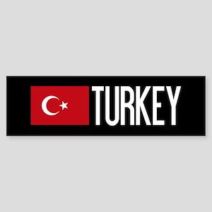 Turkey: Turkish Flag & Turkey Sticker (Bumper)
