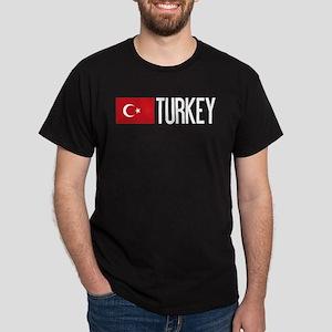 Turkey: Turkish Flag & Turkey Dark T-Shirt