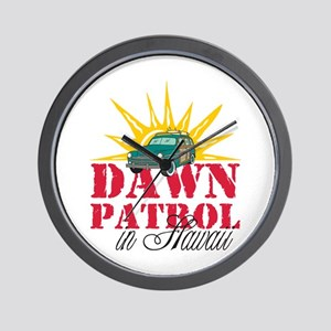 Dawn Patrol in Hawaii Wall Clock