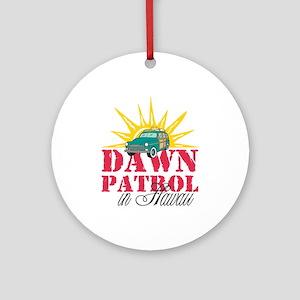 Dawn Patrol in Hawaii Round Christmas Ornament