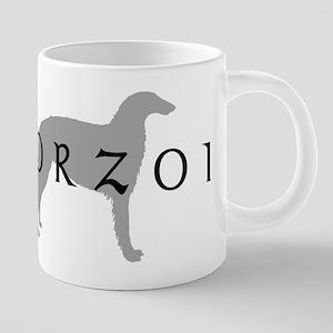 borzoi dog breed Stainless Steel Travel Mugs