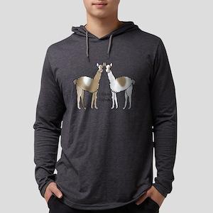 I Llove Llamas Pocket Design Long Sleeve T-Shirt