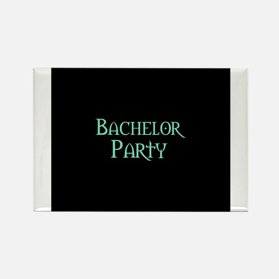 Bachelor Party -Pale Green Rectangle Magnet