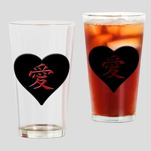 LOVE - Japanese Kanji Script Symbol Drinking Glass