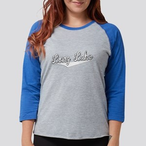 Long Lake, Retro, Long Sleeve T-Shirt