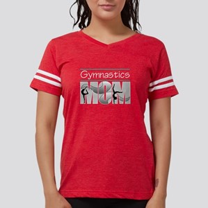 Gymnastics Mom - Gray Swirls Women's Dark T-Shirt
