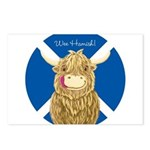 Wee Hamish Highland Cow (Saltire) Postcards (Packa