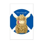 Wee Hamish Highland Cow (Saltire) Posters