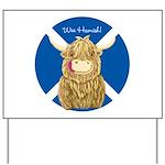 Wee Hamish Highland Cow (Saltire) Yard Sign