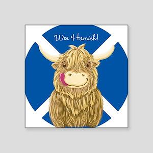 Wee Hamish Highland Cow (Saltire) Sticker