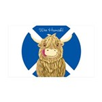 Wee Hamish Highland Cow (Saltire) Wall Decal