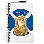 Wee Hamish Highland Cow (Saltire) Journal