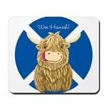 Wee Hamish Highland Cow (Saltire) Mousepad