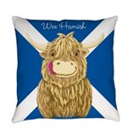 Wee Hamish Highland Cow (Saltire) Everyday Pillow