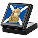 Wee Hamish Highland Cow (Saltire) Keepsake Box