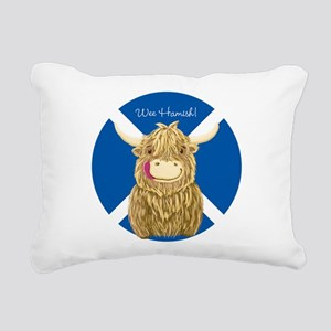 Wee Hamish Highland Cow (Saltire) Rectangular Canv
