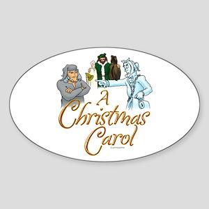 A Christmas Carol Oval Sticker