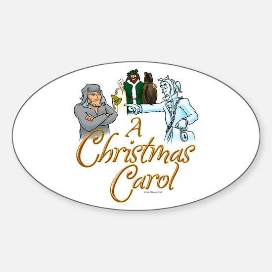 A Christmas Carol Oval Decal
