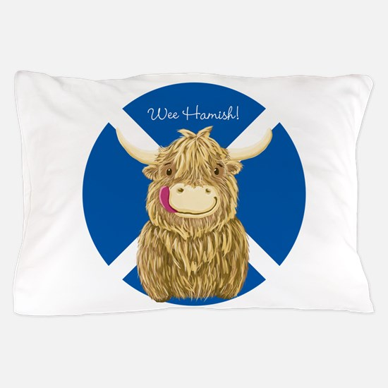 Wee Hamish Highland Cow (Saltire) Pillow Case