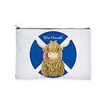 Wee Hamish Highland Cow (Saltire) Makeup Bag