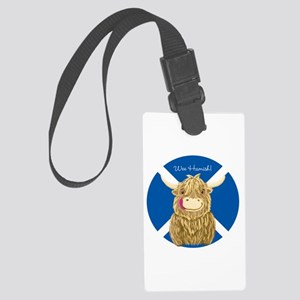 Wee Hamish Highland Cow (Saltire) Luggage Tag
