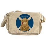 Wee Hamish Highland Cow (Saltire) Messenger Bag