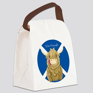 Wee Hamish Highland Cow (Saltire) Canvas Lunch Bag