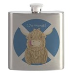Wee Hamish Highland Cow (Saltire) Flask