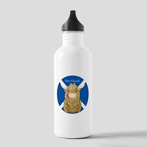 Wee Hamish Highland Cow (Saltire) Water Bottle