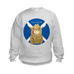 Wee Hamish Highland Cow (Saltire) Sweatshirt