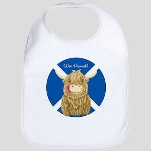 Wee Hamish Highland Cow (Saltire) Baby Bib