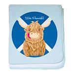 Wee Hamish Highland Cow (Saltire) baby blanket