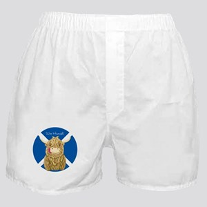 Wee Hamish Highland Cow (Saltire) Boxer Shorts