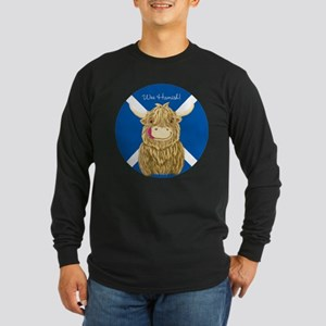 Wee Hamish Highland Cow (Saltire) Long Sleeve T-Sh