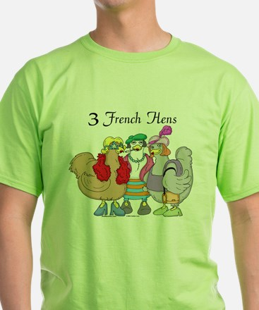 3 French Hens Ash Grey T-Shirt