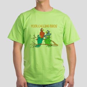 Four Calling Birds Ash Grey T-Shirt