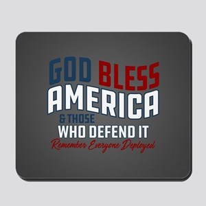 God Bless America RED Friday Mousepad