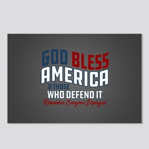 God Bless America RED Fri Postcards (Package of 8)