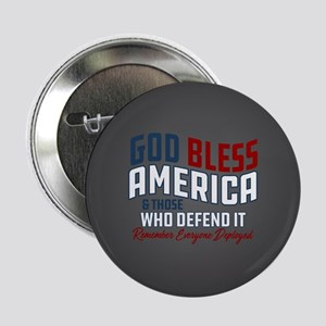 """God Bless America RED Frida 2.25"""" Button (10 pack)"""