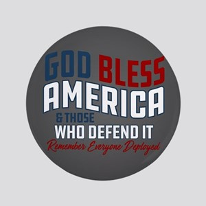 """God Bless America RED Friday 3.5"""" Button"""
