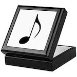 Traditional Basic Black Note Keepsake Box