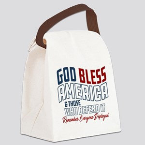 God Bless America RED Friday Canvas Lunch Bag