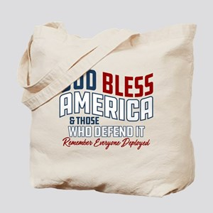 God Bless America RED Friday Tote Bag