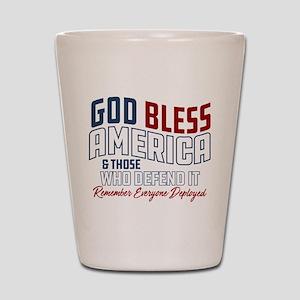 God Bless America RED Friday Shot Glass