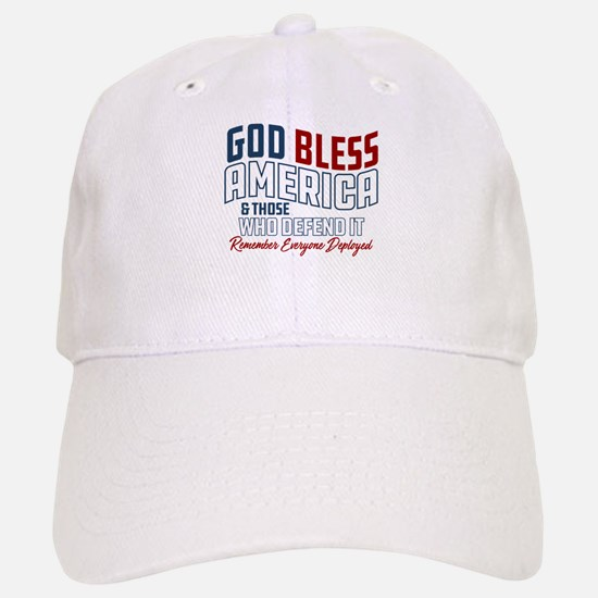 God Bless America RED Friday Baseball Baseball Cap