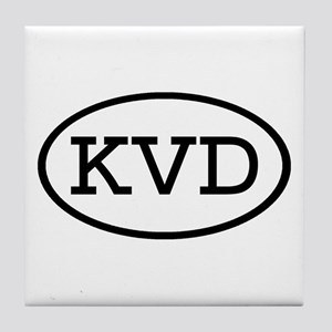 KVD Oval Tile Coaster