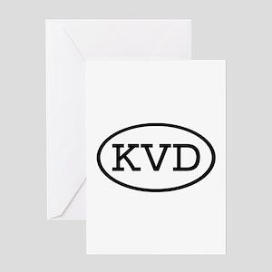 KVD Oval Greeting Card