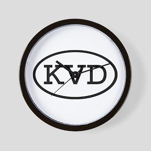 KVD Oval Wall Clock